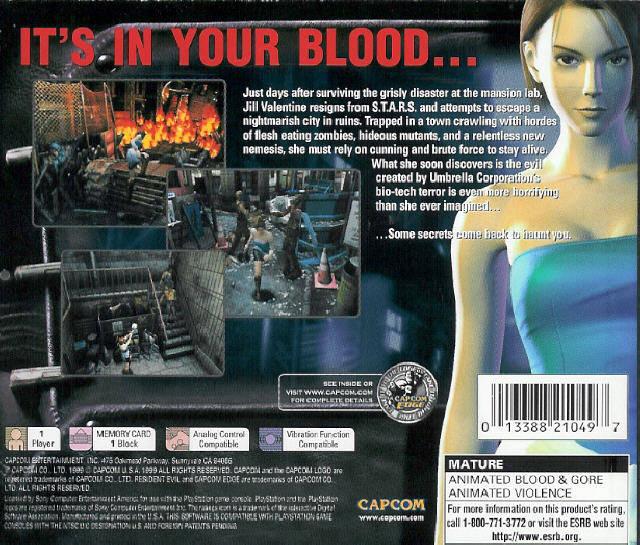 Resident Evil 3 - Nemesis [U] ISO < PSX ISOs | Emuparadise